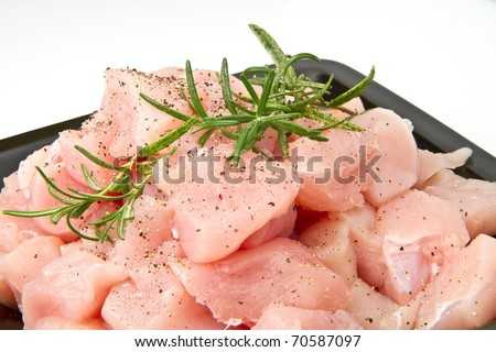 chicken pieces - stock photo