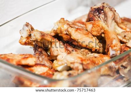 Chicken pieces prepared on a barbecue - stock photo