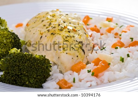 Chicken ,rice and vegetables