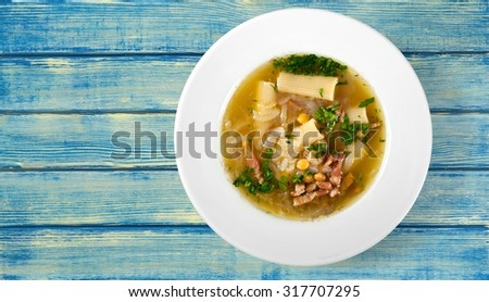 Chicken Soup. - stock photo