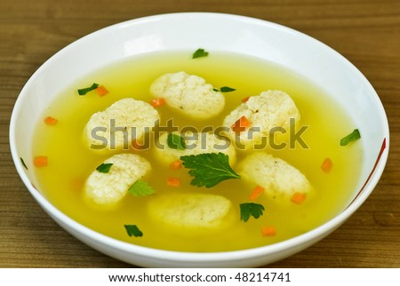 chicken soup - stock photo