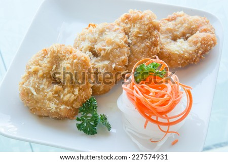 Chicken Strips with Hot Pepper Sauce - stock photo