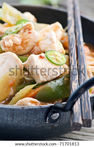 Chicken Sweet Sour - stock photo