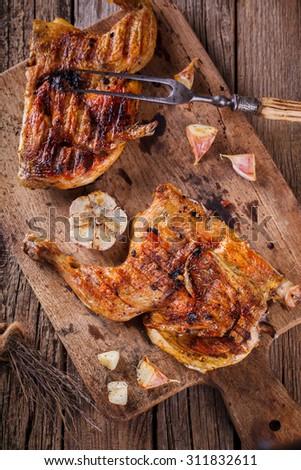 Chicken Tabaka.selective focus - stock photo