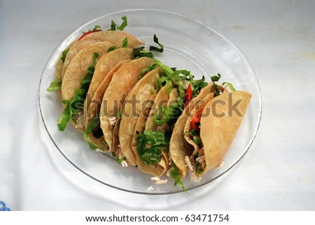 Chicken Tacos - stock photo