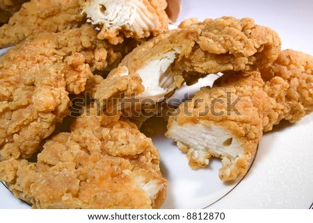 Chicken tenders ready to eat - stock photo