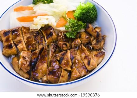 Chicken Teriyaki Bowl - stock photo