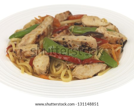 Chicken Teriyaki Noodles - stock photo