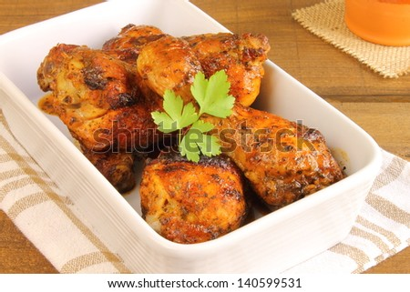 Chicken thighs - stock photo