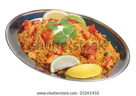 Chicken tikka biriani curry - stock photo