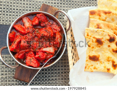 Chicken Tikka Masala, traditional Indian cuisine - stock photo