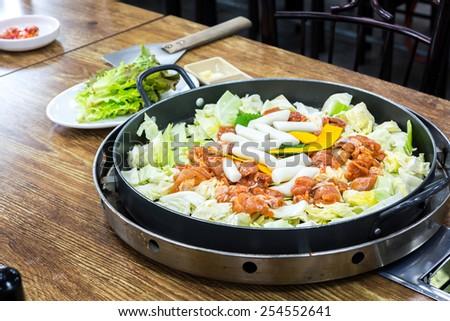 Chicken vegetable stir-fry - stock photo