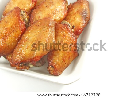 Chicken Wings in Spicy Honey Cajun Flavor Style