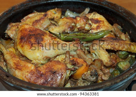 Chicken with vegetable stew