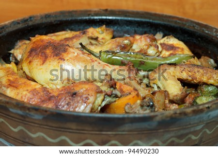 Chicken with vegetable stew - stock photo