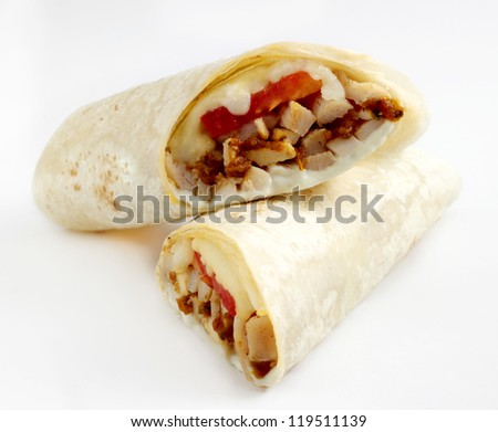 chicken wrap - stock photo