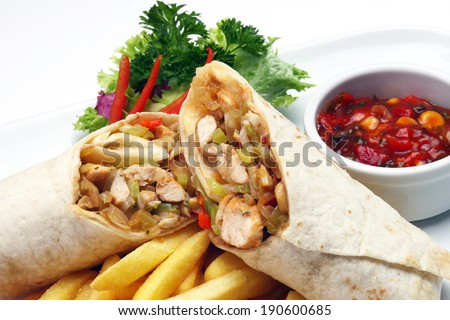 Chicken Wrap - stock photo
