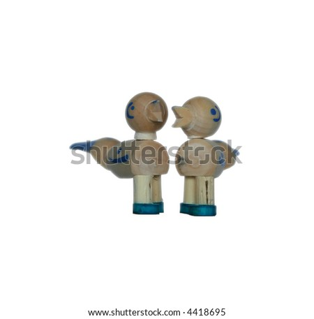 chickens - isolated toys - stock photo