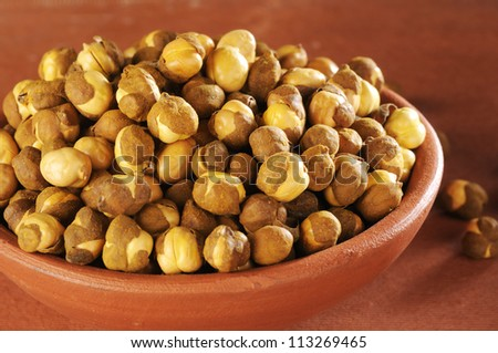 Chickpea,Chickpeas , Garbanzo beans - stock photo