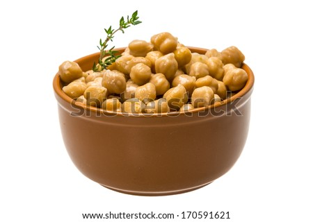 Chickpea in the bowl - stock photo