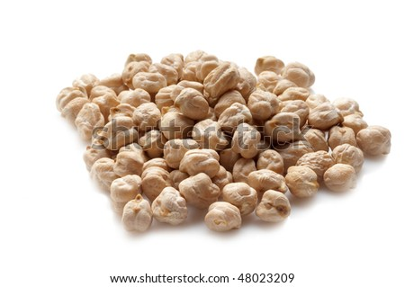 chickpea on white - stock photo