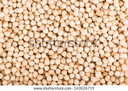 Chickpea seeds, closeup - stock photo