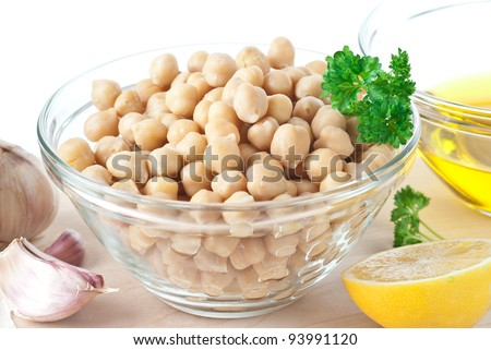 Chickpeas - stock photo