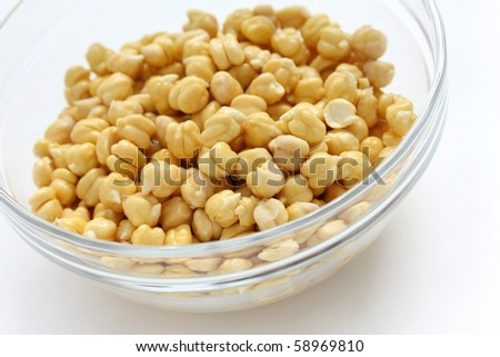 Chickpeas , Garbanzo beans - stock photo