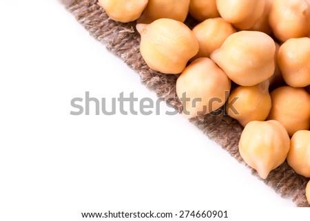 Chickpeas isolated - stock photo