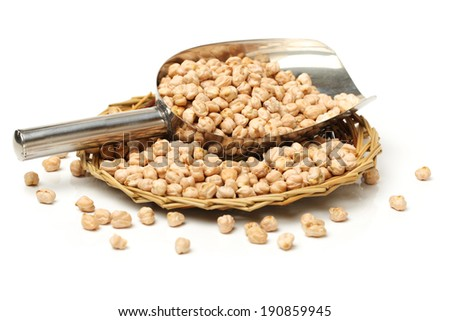 chickpeas on white background  - stock photo