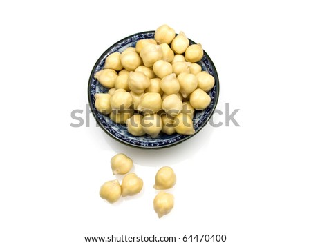 Chickpeas or garbanzo beans - stock photo