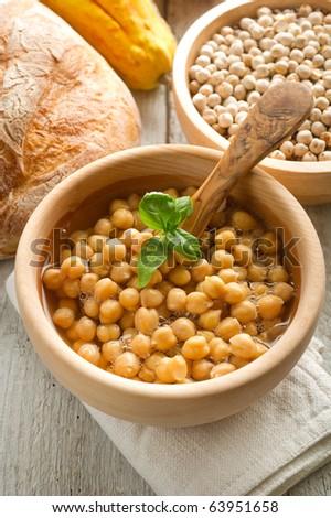 chickpeas soup - stock photo