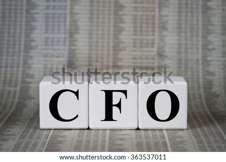 Chief Financial Officer - stock photo