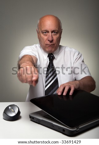Chief is angry - stock photo