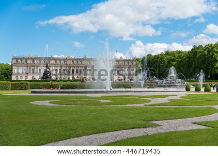 CHIEMSEE, GERMANY - JUNE 12, 2016: Herrenchiemsee Palace