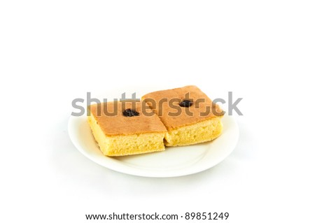 Chiffon cake. - stock photo