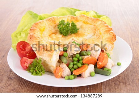 chiken pot pie - stock photo