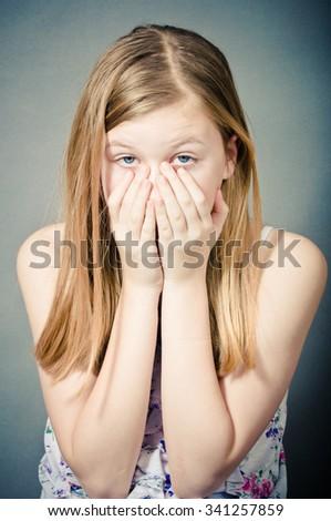 Child abuse - stock photo