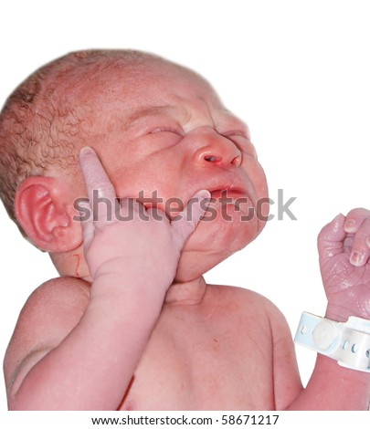 Child after birth - stock photo