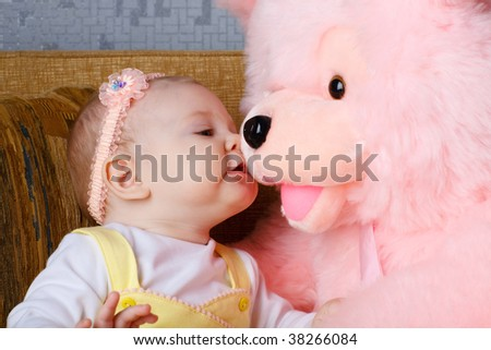 child and toy - stock photo