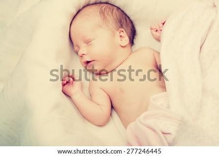 Child baby infant beautiful card  - stock photo