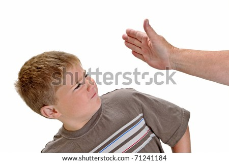 Child being Slapped in Face - stock photo