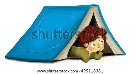 Child book isolated tent  sc 1 st  Shutterstock & Child Book Isolated Tent Stock Illustration 495118381 - Shutterstock