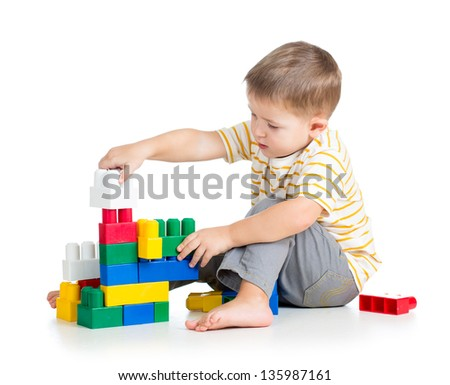 child boy playing - stock photo