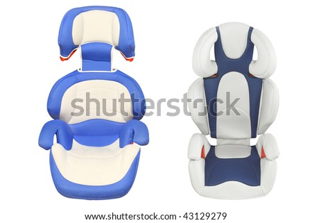 child car armchairs under the light background