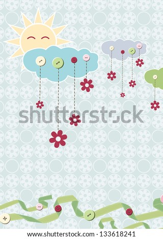 Child card. Raster version, vector file available in portfolio. - stock photo