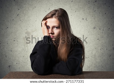 Child. Depressed child - stock photo