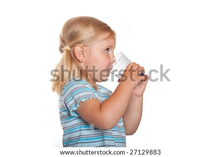 child drink - stock photo