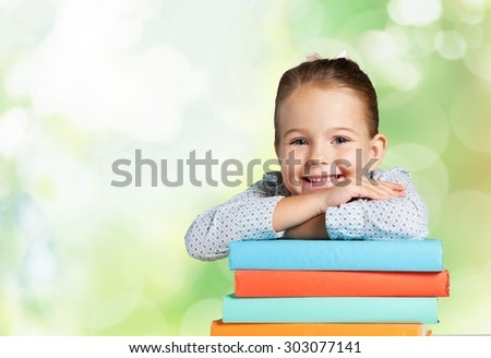 Child, Education, Book. - stock photo