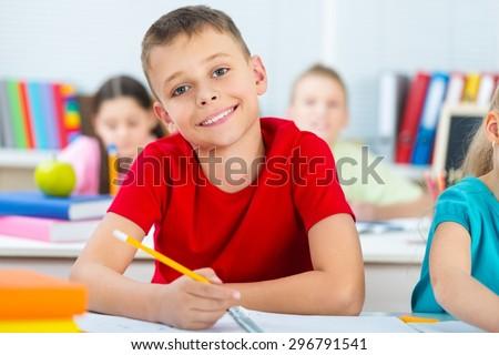 Child, Education, Student. - stock photo